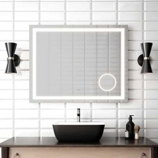 "Effect- 38""x30"" LED Mirror With Magnifying Mirror  LED Mirror"