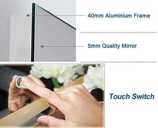 MSL-105 Anti- Fog LED Mirror - Construction Commodities Supply Inc.