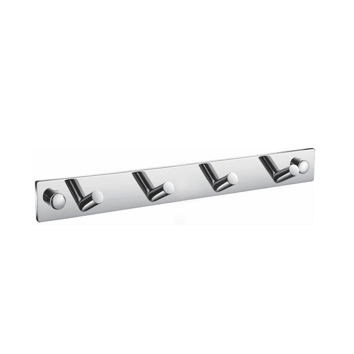 AQUA CHIARO- Chrome Robe Hook With 4 Hooks - Construction Commodities Supply Inc.