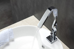 AQUA RICCIO- Chrome Single Lever Bathroom Faucet. - Vanity Sale