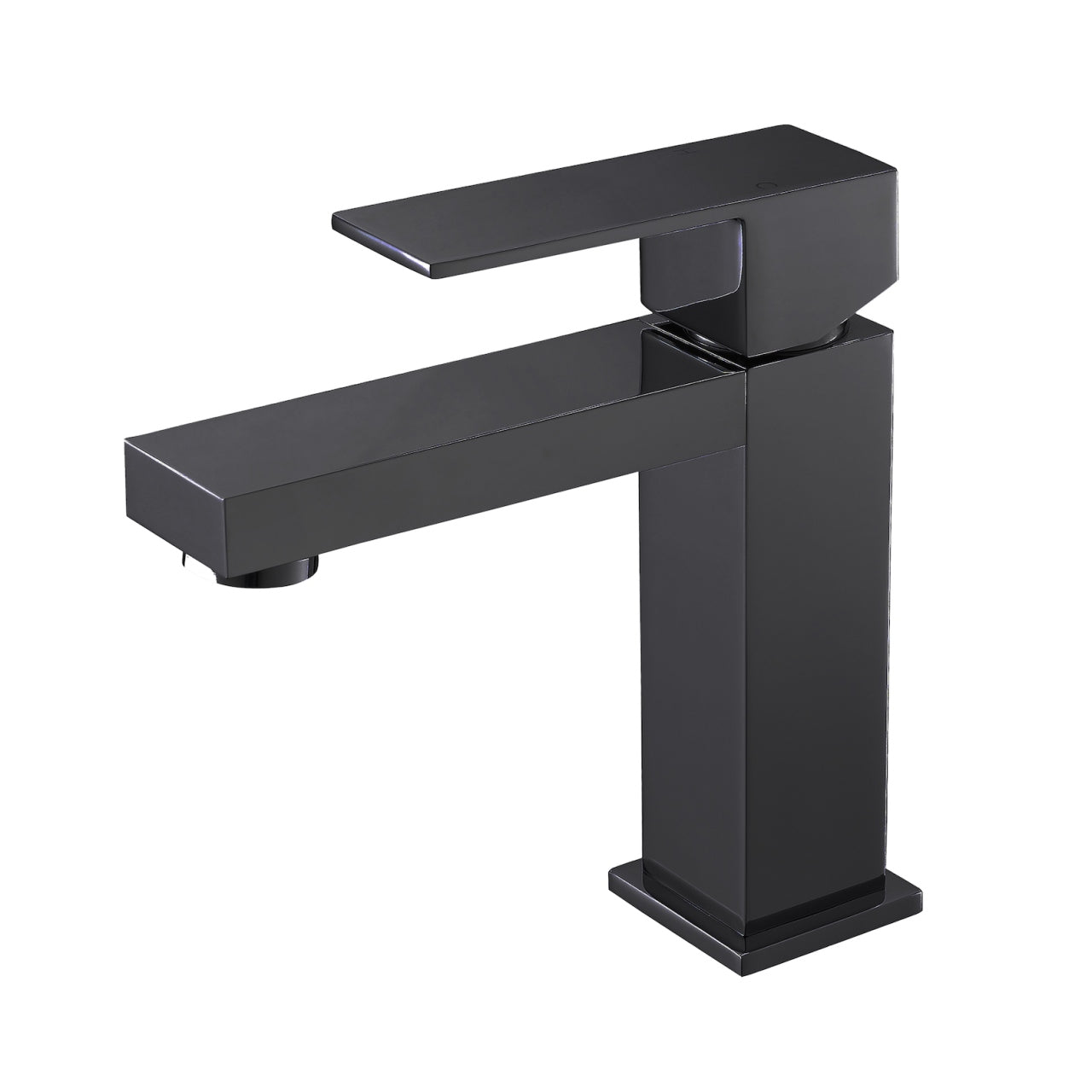 AQUA KUBO- Matt Black, Single Handle, Bathroom Faucet - Construction Commodities Supply Inc.