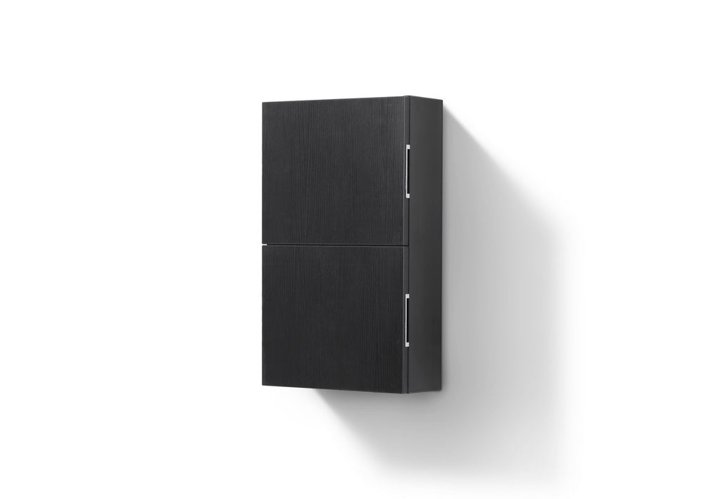 "24"" High Bathroom Linen Side Cabinets, Black - Vanity Sale"