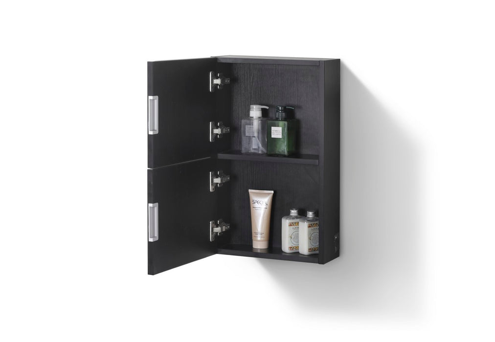 "24"" High Bathroom Linen Side Cabinets, Black - Construction Commodities Supply Inc."