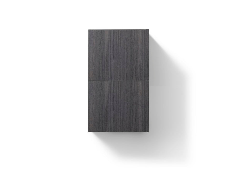 "24"" High Bathroom Linen Side Cabinets, High Gloss Grey Oak - Construction Commodities Supply Inc."