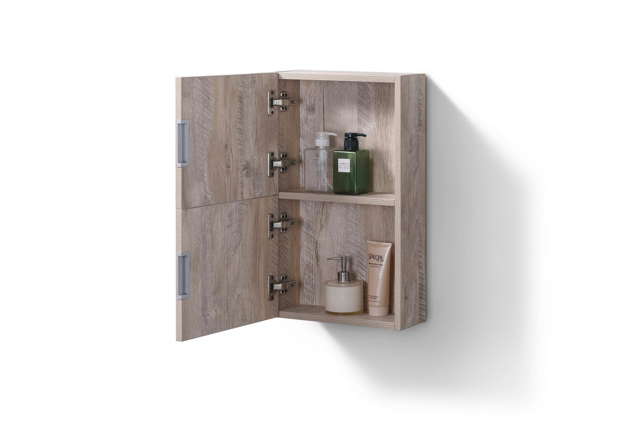 "24"" High Bathroom Linen Side Cabinets, Nature Wood - Vanity Sale"