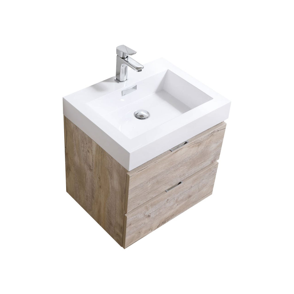 "BLISS- 24"" Nature Wood, Wall Mount Bathroom Vanity - Vanity Sale"
