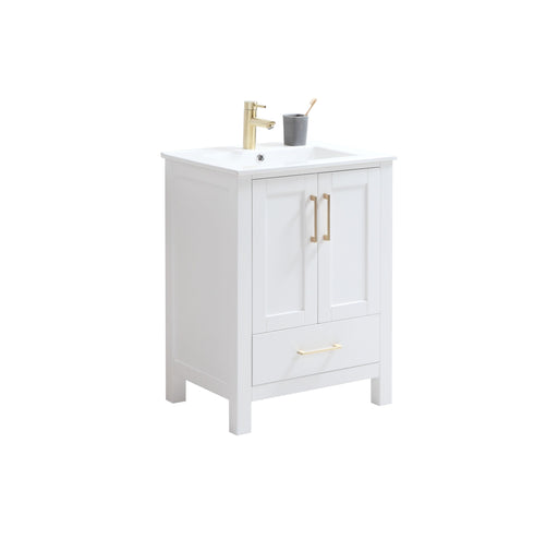 "CCS201 - 24"" White, Floor Standing Modern Bathroom Vanity - Construction Commodities Supply Inc."