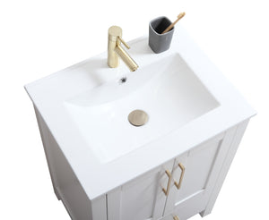 "CCS201 - 24"" White, Floor Standing Modern Bathroom Vanity - Vanity Sale"