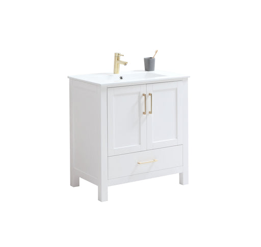 "CCS201 - 30"" White, Floor Standing Modern Bathroom Vanity - Construction Commodities Supply Inc."