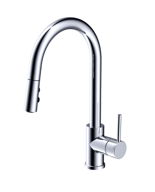 F828- Chrome, Pull Down Contemporary Kitchen Faucet  Kitchen Faucet