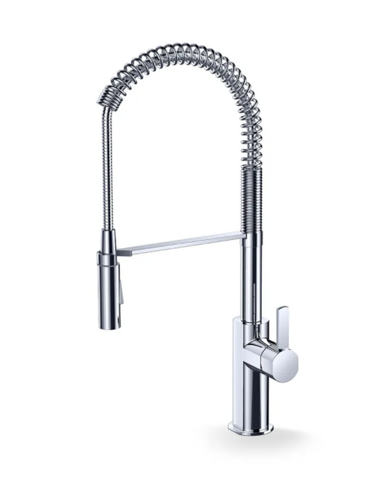 F830- Chrome, Pre-Rinse Industrial-Look Faucet - Vanity Sale