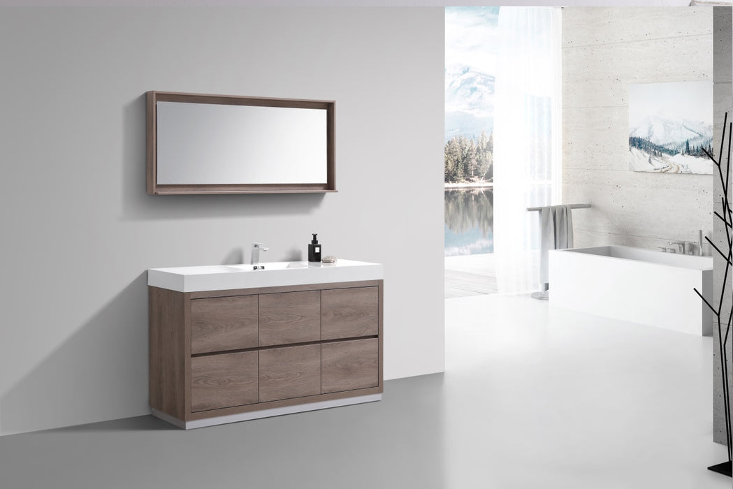 "BLISS- 60"" Single Sink, BUTTERNUT, Floor Standing Modern Bathroom Vanity"