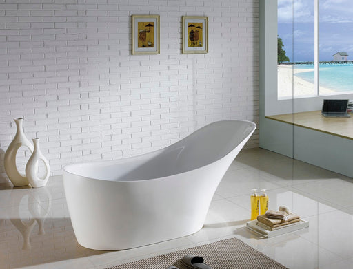 "Victorian- 67"" Composite Acrylic Free Standing Bathtub  Free Standing Bathtub"