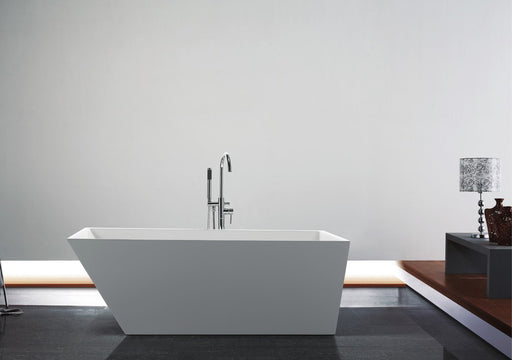 "Obliquo- 67"" Composite Acrylic Free Standing Bathtub - Construction Commodities Supply Inc."