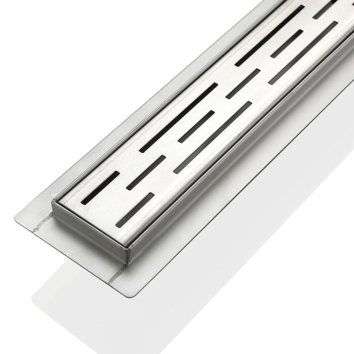 LINEAR GRATE- 28″ Stainless Steel Linear Shower Drain - Construction Commodities Supply Inc.