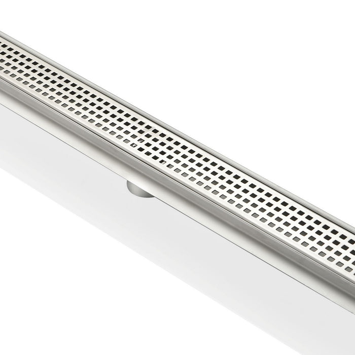 PIXEL GRATE- 28″ Stainless Steel Linear Shower Drain - Construction Commodities Supply Inc.