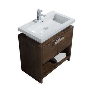 "LEVI - 30"" Rose Wood, Floor Standing Modern Bathroom Vanity - Vanity Sale"