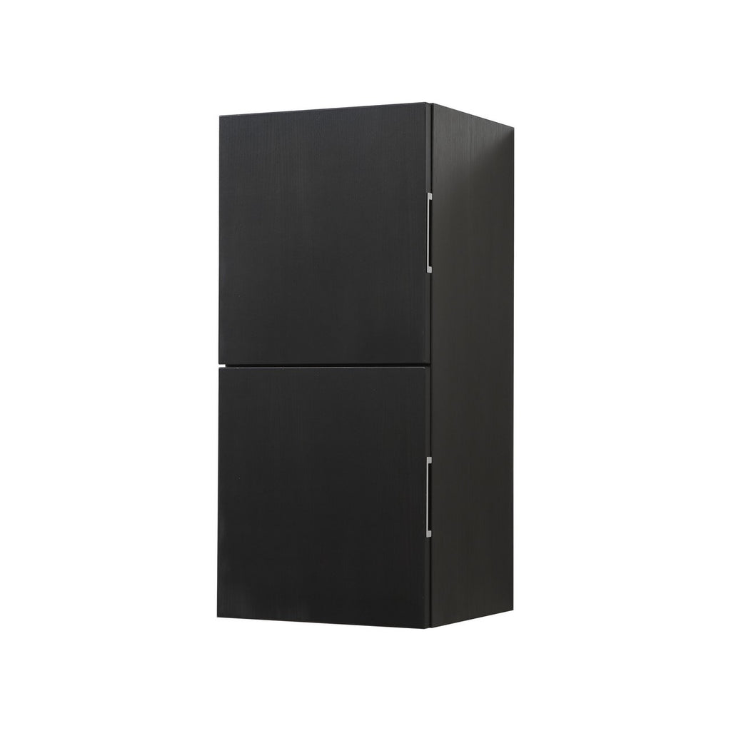 "28"" High Bathroom Linen Side Cabinets, Black - Construction Commodities Supply Inc."
