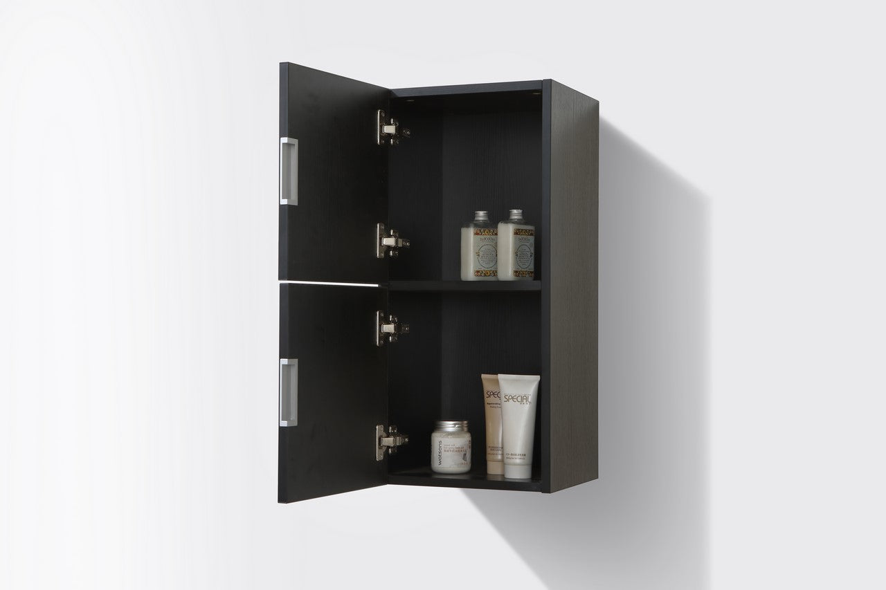"28"" High Bathroom Linen Side Cabinets, Black - Vanity Sale"