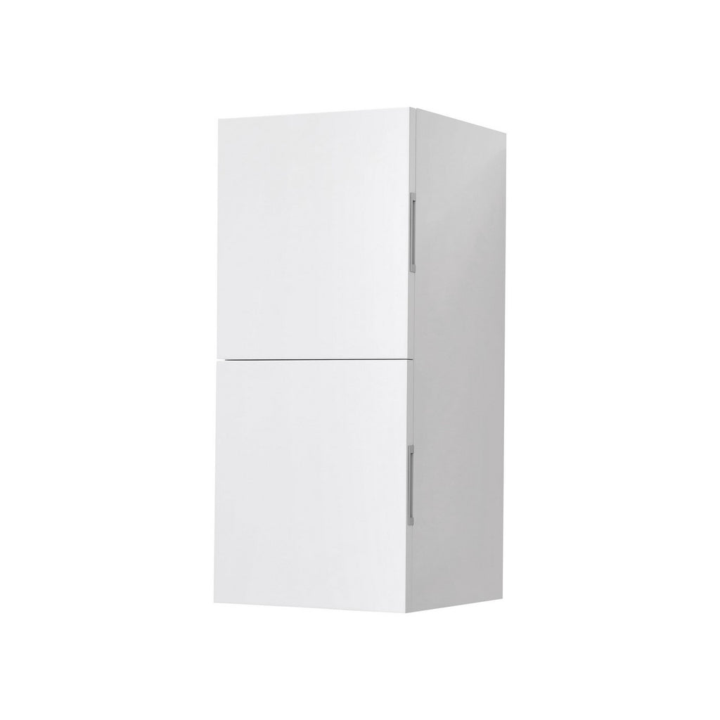 "28"" High Bathroom Linen Side Cabinets, High Gloss White - Construction Commodities Supply Inc."