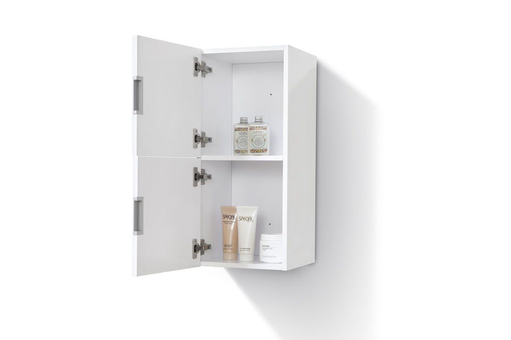 "28"" High Bathroom Linen Side Cabinets, High Gloss White - Vanity Sale"