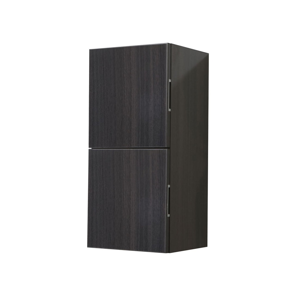 "28"" High Bathroom Linen Side Cabinets, High Gloss Grey Oak - Construction Commodities Supply Inc."