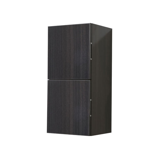 "28"" High Bathroom Linen Side Cabinets, High Gloss Grey Oak - Vanity Sale"
