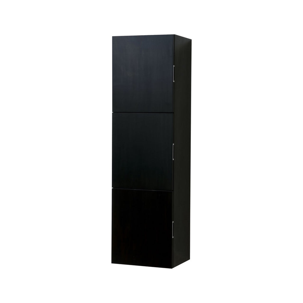 "59"" High Bathroom Linen Side Cabinets, Black - Construction Commodities Supply Inc."