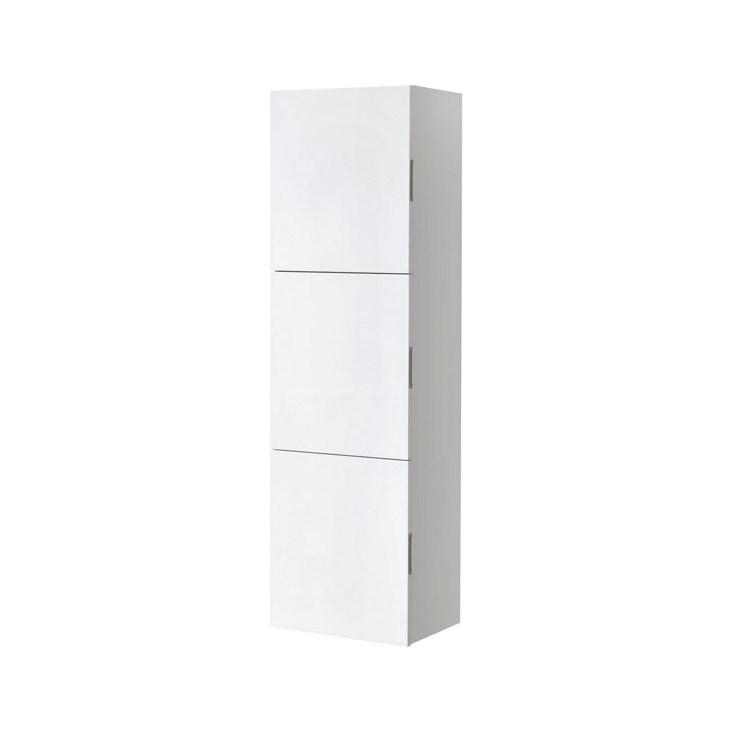 "59"" High Bathroom Linen Side Cabinets, High Gloss White - Construction Commodities Supply Inc."