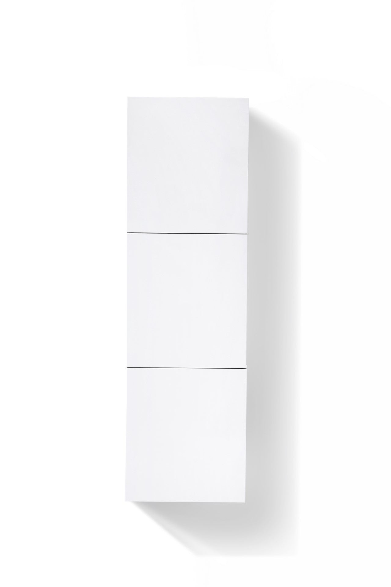 "59"" High Bathroom Linen Side Cabinets, High Gloss White - Vanity Sale"