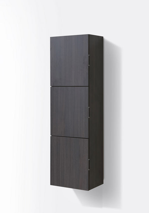 "59"" High Bathroom Linen Side Cabinets, High Gloss Grey Oak - Vanity Sale"