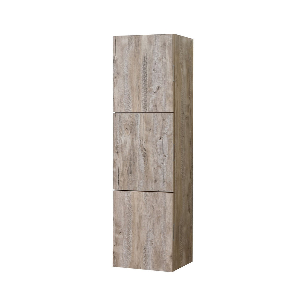 "59"" High Bathroom Linen Side Cabinets, Nature Wood - Construction Commodities Supply Inc."