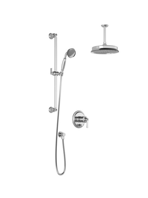 "RUSTIC-  8"" shower systems with pressure balance valve - Chrome"