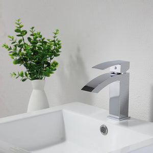 KODAEN- F11103 Single Handle, Chrome Bathroom Faucet - Vanity Sale