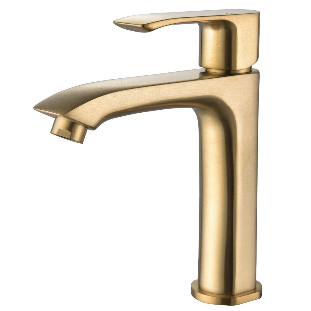 KODAEN-F11125 Single Handle,Brushed Gold, Bathroom Faucet. - Construction Commodities Supply Inc.