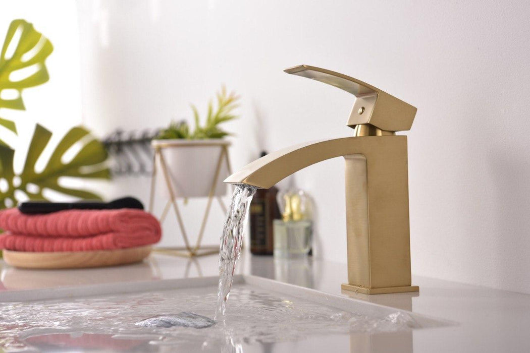 KODAEN -F11103 Single Handle, Brushed Gold, Bathroom Faucet - Construction Commodities Supply Inc.
