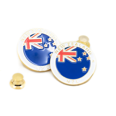 Flag of New Zealand  New Zealand Travel Pin