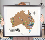 Kangaroo & Emu National Animals of Australia Travel Pin