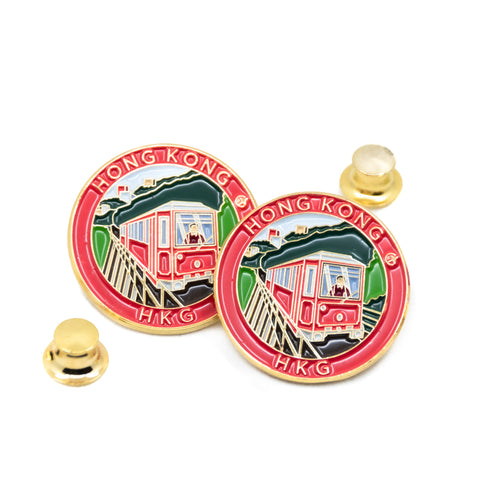 Peak Tram Hong Kong Travel Pin