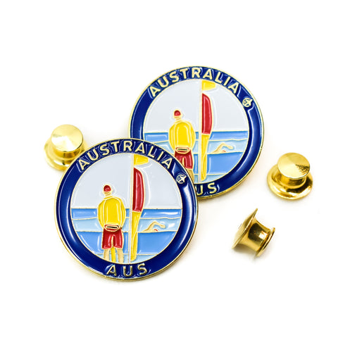 Famous Lifeguards Australia Travel Pin