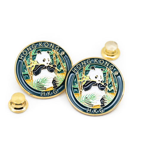 Giant Panda Hong Kong Travel Pin