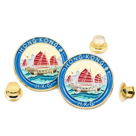 Junk Boat Hong Kong Travel Pin