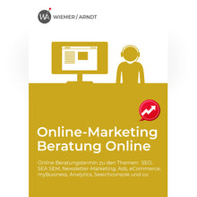 Laden Sie das Bild in den Galerie-Viewer, Online Marketing Beratung Online