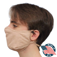 Reusable copper face mask, non elastic, no ear pain design