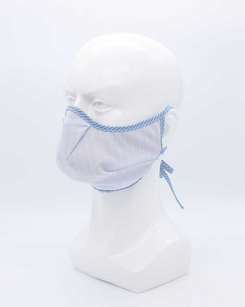 MD Mask Angel Series- Baby Blue Plaid