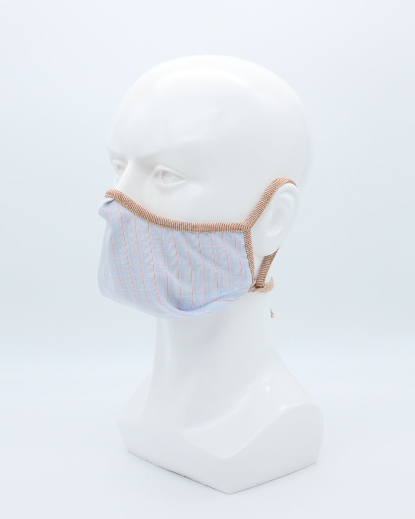 MD Mask Designer Series Petite- Baby Blue Plaid
