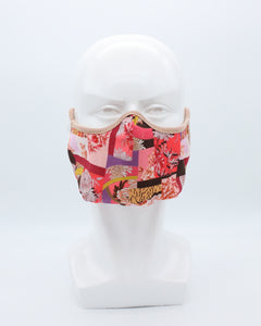 MD Mask Designer Series - Red Patchwork Floral