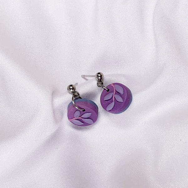 Handmade Polymer Clay Earrings - Secret Garden Dangle 04