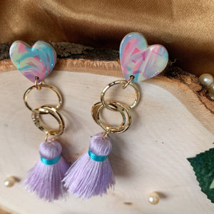 Handmade Polymer Clay Earrings - W02