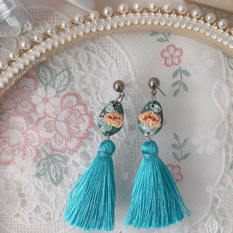Handmade Polymer Clay Earrings - Lantern 06